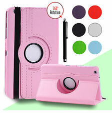 360° Rotating Plain PU Leather Stand Case For Various Samsung Galaxy Models