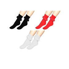 Girls-Ladies Frilly Lace Ankle Socks Retro Vintage Frilly Ruffled Lace Socks