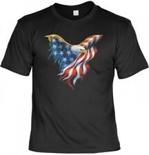 T-Shirt - Adler mit Stars and Stripes US Flagge - USA Shirt bedruckt