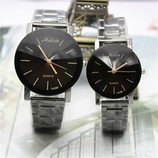 Fashion Stainless Steel Analog Quartz Movement Wrist Watch for Women/Men