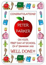 My First Day At School Picture for Frame Keepsake Certificate Personalised Gift