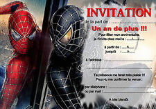 5 ou 12 cartes invitation anniversaire SPIDERMAN réf 266
