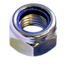 M12 / 12mm NYLOC TYPE NYLON INSERT LOCK NUTS DIN 985 A2 STAINLESS STEEL