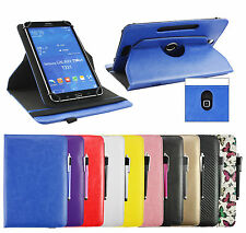 Universal Stylish (7 - 8 inch) 360° Rotating Stand Wallet Case Cover & Stylus