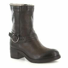 Mjus 560203 Womens Leather Warm Lined Ankle Boots Terra Earth Brown