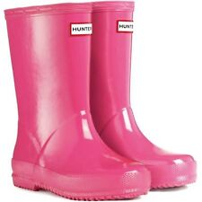 HUNTER FIRST KIDS' GLOSS WELLINGTON BOOTS – FUCHSIA  - KFT5003RGL