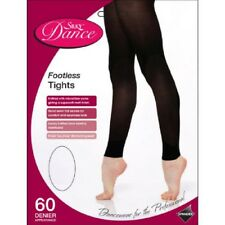 GIrls Children's Footless Dance Tights Opaque  Black With Spandex  3-13 years