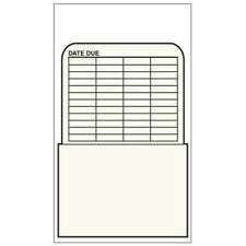 Library Book Pockets- Self-Adhesive -  Date Due- 500/Box