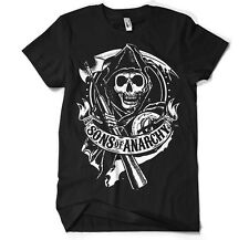 SONS OF ANARCHY REAPER CREW Officially Licensed Merchandise Mens Black T-Shirt