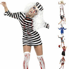 Adulto Donna Halloween Cosplay Costume Cadavere Zombie Sangue Horror