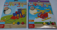 KIDS CREATE, 3D WOODEN PUZZLE/MODEL KITS, Train & Helicopter, Creative Fun Gift.