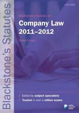 Blackstones Statutes on Company Law 2011-2012 (Blackstones Statute Series), , Us