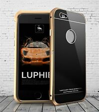 Ultra Thin LUPHIE Gorilla Glass Back Cover Metal Bumper Case for iPhone 6 6s Hot
