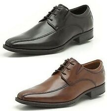 FLENK LACE MENS CLASSIC LEATHER LACE UP BLACK BROWN FORMAL SMART WORK SHOES