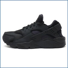 Nike Air Womens Huarache Run Triple Black All Black Shoes style 634835 009