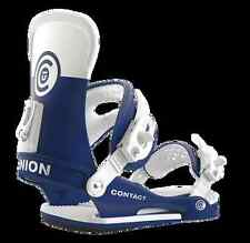 UNION CONTACT BLUE WHITE ATTACCHI FW 2016 M L NEW BINDINGS SNOWBOARD