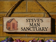 PERSONALISED SHED SIGN SANCTUARY SIGN OWN NAME SIGN SHABBY CHIC SIGN GARDEN SHED