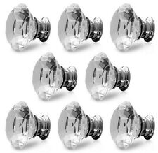 Brand New Clear Diamond Crystal Door Handles Knobs + Screws Drawer Furniture