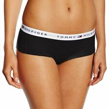 Tommy Hilfiger Underwear Women's Iconic Cotton Shorty Brief, Black Hipster Panty