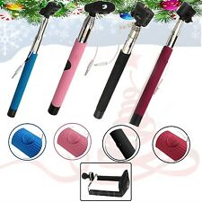 NEW CHRISTMAS,NEW YEAR AND BIRTHDAY GIFT BLACK SELFIE STICK MONOPOD WITH AUX