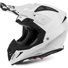 CASCO HELMET OFF ROAD AIROH AVIATOR 2.2 COLOR WHITE GLOSS BIANCO LUCIDO MOTO
