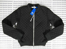 ADIDAS ORIGINALS WOMEN'S QUILTED BOMBER JACKET BLACK RETRO CHILE 62 TRACK TOP