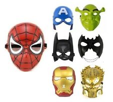 Kids Spiderman Batman Captain A Mask Cosplay Fancy Dress Costume Party Accessory