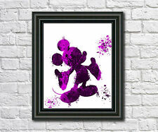 Mickey Mouse Disney Art Print Mickey Mouse Poster Silhouette Disney Print