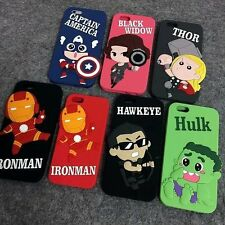 Avengers superhero HULK THOR IRONMAN Silicon Back Cover Case for iPhone 6/6s