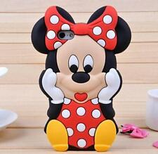 Hot Sale Lovely Minnie Rubber Silicon Back Cover Case for Apple iPhone 5/5s/6/6s