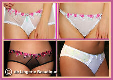 *SALE* Full-filled Briefs & Thongs White or Black with Pretty Embroidery 10-24