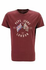 T - Shirts Pepe Jeans Direction Flag PM502050 Bordeau