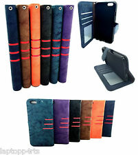 100% Genuine Real Leather Flip Case Wallet Cover For Samsung Galaxy A8 NEW