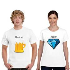 Giftsmate Beer and Diamond Men Women Drifit Couple t-shirts, Love Gifts