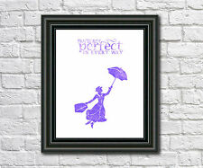 Mary Poppins Art Print Disney Illustration Poster Disney Film Character Print