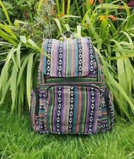 Slash Patchwork Backpack, Cotton Rainbow Rucksack, Hippy Boho Festival