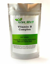 Complejo De Vitamina B Contiene 100% RDA OF ALL EIGHT Esencial B Vitaminas