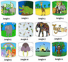 Kids Zoo Safari Animals Lampshades Ideal To Match Your Children`s Jungle Duvets