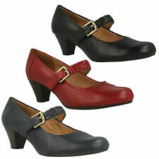 DONNA K BY CLARKS FEARNE DEW CALZATA LARGA PELLE TACCO SPESSO MARY JANE