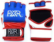 FXR SPORTS LEATHER MMA UFC GRAPPLING GLOVES FIGHT BOXING PUNCH BAG MUAY THAI