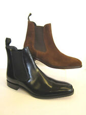 HOMME À ENFILER CUIR CHELSEA BOTTINES STYLE LOAKE MITCHUM