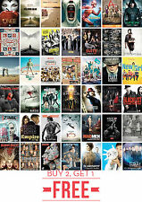Best TV Shows Game of Thrones, Breaking Bad, Narcos A1 A2 A3 A4 Poster Print Art