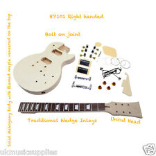 LP x 7 types, ST and Bass for D.I.Y Kits Unfinished Project Electric Guitar Kits