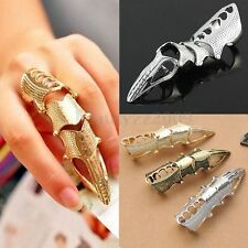 VINTAGE MISTO Armour Knuckle ROBOT FINGER RING GOTH ROCK PUNK FINGER JOINT RINGS