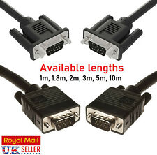 SVGA VGA MONITOR 15 Pin Male Cables Leads Cable Lead For PC Monitor LCD Screen
