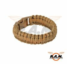 Paracord Survival Armband Coyote Brown (13485)