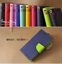 Mercury Goospery Wallet Flip Diary Book Back Cover Case For All HTC Models