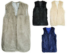 Great Quality one size Faux Fur Sleeveless Vest Waistcoat Gilet  Jacket Coat