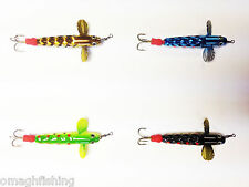 Allcock Metal Devon Diamond Body/Dimpled Minnow 2 Inch**4 Colours**Salmon Lure