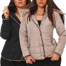 Winterjacke Steppjacke mit Fell an der Kapuze Damen